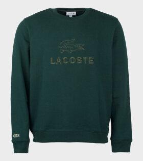 Embroidery Sweatshirt Green