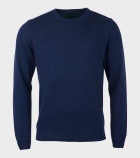 Pullover Crewneck Cashmere Shirt Blue - dr. Adams