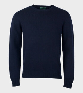 Pullover Crewneck Lambswool Blue - dr. Adams