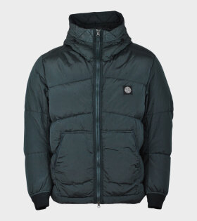 Stone Island Down Watro Ripstop Jacket Green - dr. Adams