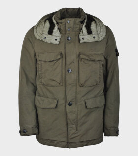 Stone Island David-TC Felt Jacket Green - dr. Adams