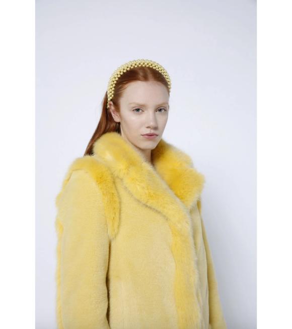 Shrimps - Antonia Headband Pale Banana Yellow