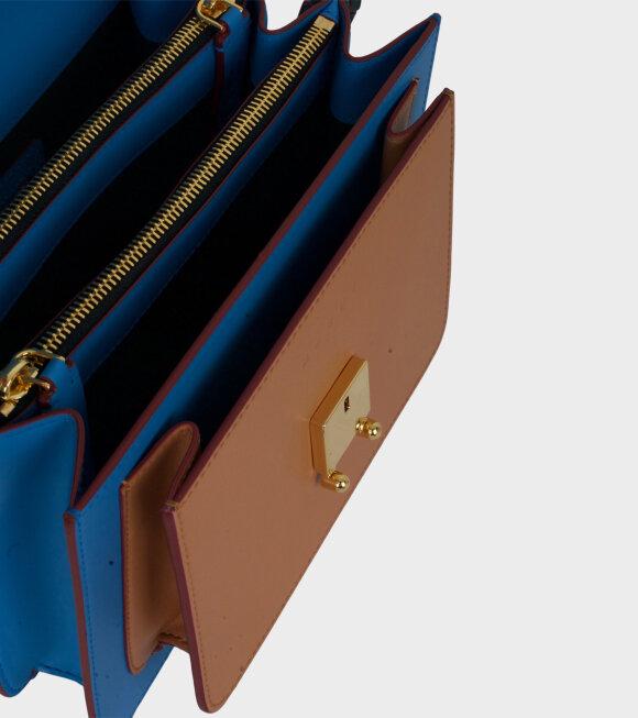 Marni - Medium Trunk Bag Blue/Brown