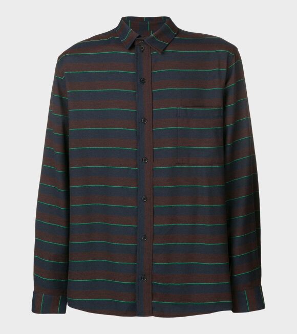 Henrik Vibskov - Sprouting Shirt Blue/ Green Stripe