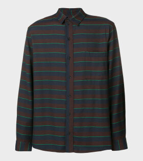 Henrik Vibskov Sprouting Shirt Blue Green Stripe - dr. Adams