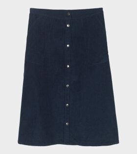 Aiayu A-Shape Skirt Corduroy Navy Blue - dr. Adams
