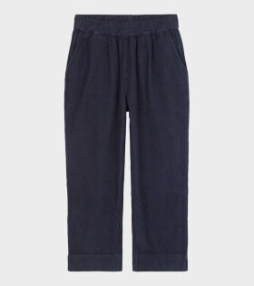Aiayu Straight Corduroy Pants Navy Blue - dr. Adams