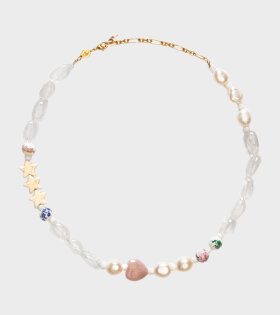 Anni Lu Heloise Necklace Gold White - dr. Adams