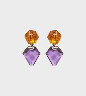 Monies Piley Earclips Purple/Orange - dr. Adams