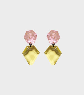 Monies Piley Earclips Pink/Yellow - dr. Adams