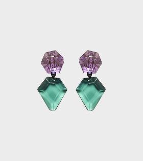 Monies Piley Earclips Purple/Green - dr. Adams