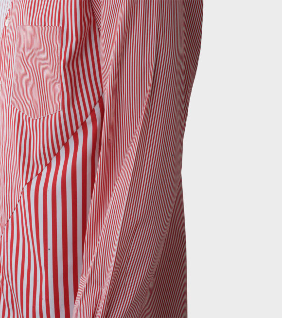 Comme des Garcons Shirt - Longsleeved Shirt Red/White
