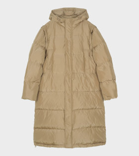 GANNI Tech Down Jacket Tiger's Eye