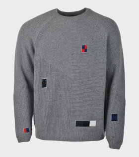Paul Smith Longsleeved Pullover Crew Neck Grey - dr. Adams