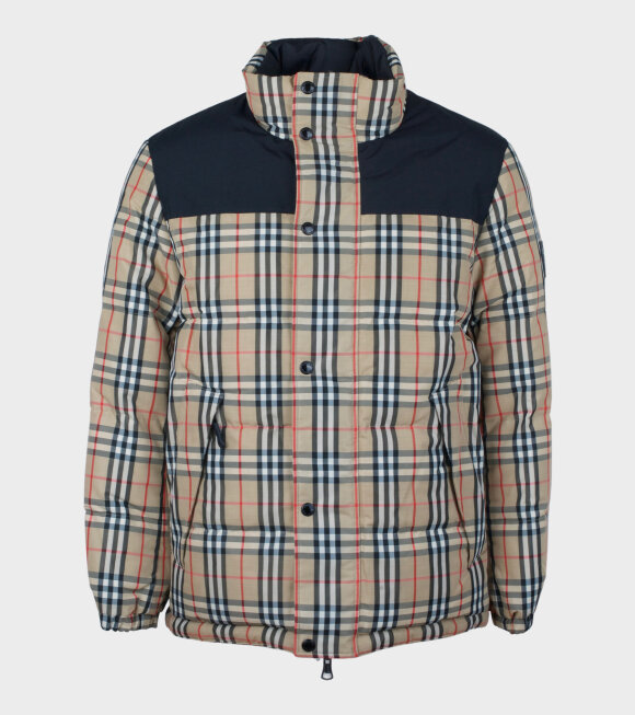 Burberry - Reversible Vintage Check Recycled Jacket Beige/Black