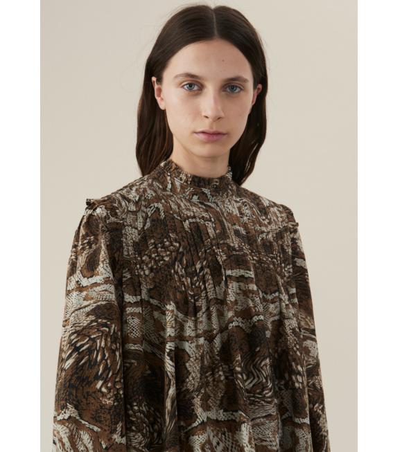 Ganni - Mini Dress Tiger's Brown