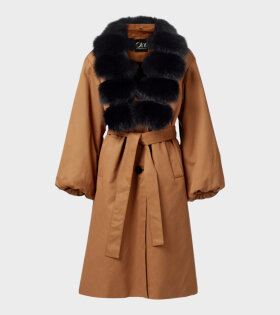 Oh! by Kopenhagen Fur Hensley Long Coat Brown