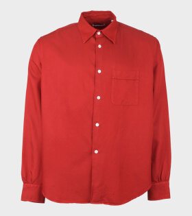 Our Legacy Policy Shirt Red - dr. Adams