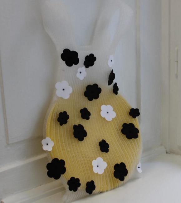 A. Roege Hove - Knit Bag Transparent W. Flower Medium White