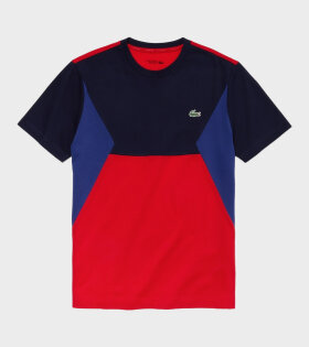 Lacoste Logo Tricolor T-shirt Red Multi
