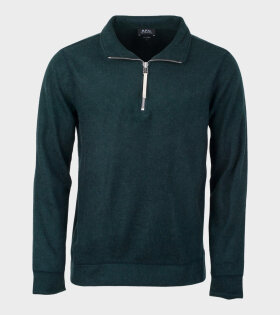 A.P.C Sweat Feyo Longsleeved T-shirt Green - dr. Adams