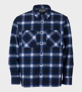 Carhartt L/S Halleck Shirt Blue - dr. Adams