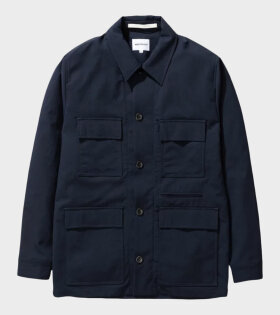 Norse Project Kyle Travel Jacket Blue - dr. Adams