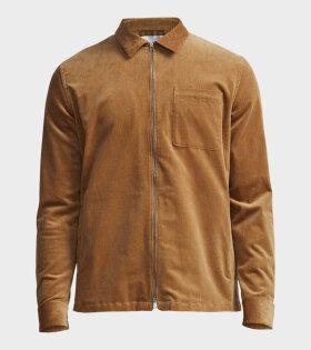 NN07 Zip Shirt Brown - dr. Adams