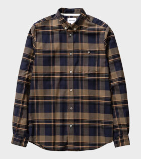 Norse Project Anton Brushed Flannel Check Blue - dr. Adams