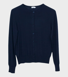 Filippa K Merino Short Cardigan Blue - dr. Adams