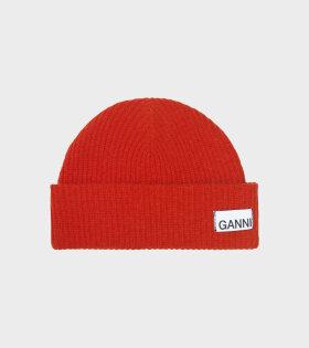Ganni Hat Fiery Red - dr. Adams