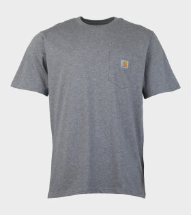 Carhartt WIP S/S Pocket T-Shirt Grey - dr. Adams