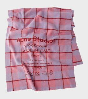 Acne Studios Cassiar Check Pink - dr. Adams
