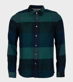 Paul Smith Men's Shirt Green/Blue - dr. Adams