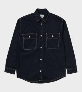 Carhartt WIP W' L/S Great Master Shirt Blue - dr. Adams