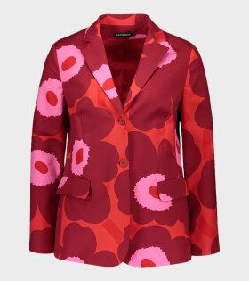Marimekko Vetoava Unikko Jacket Red - dr. Adams