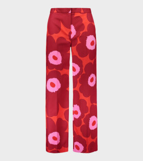 Marimekko Osuva Unikko Trousers Red - dr. Adams