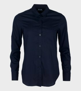 Filippa K Classic Stretch Shirt Navy - dr. Adams
