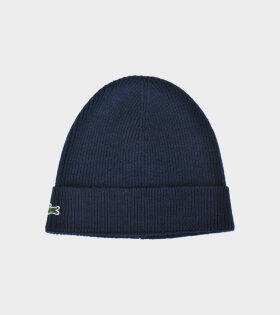 Lacoste Logo Beanie Navy RB3502-166 - dr. Adams