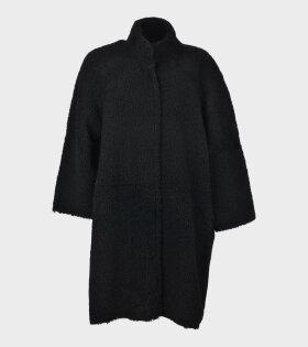 Remain Tune Coat Plain Black - dr. Adams