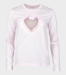 Comme Des Garçons Girl Ladies T-shirt Pink