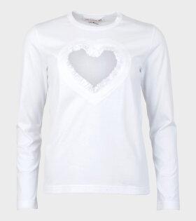 Comme Des Garçons Girl Ladies' T-shirt White - dr. Adams