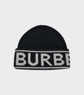 Burberry - Logo Intarsia Cashmere Beanie Black