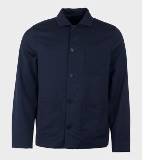 Filippa K Louis Gabardine Jacket Blue - dr. Adams