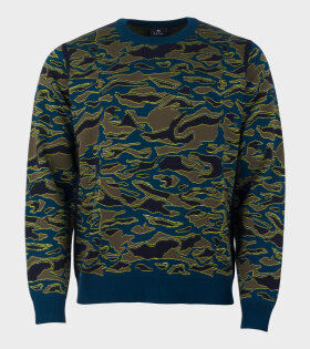 Paul Smith Pullover Crew Neck Green - dr. Adams