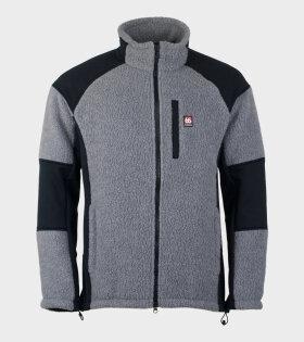 Tindur Technical Shearling Jacket Grey