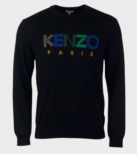 Kenzo Long sleeve Logo Pullover Black - dr. Adams