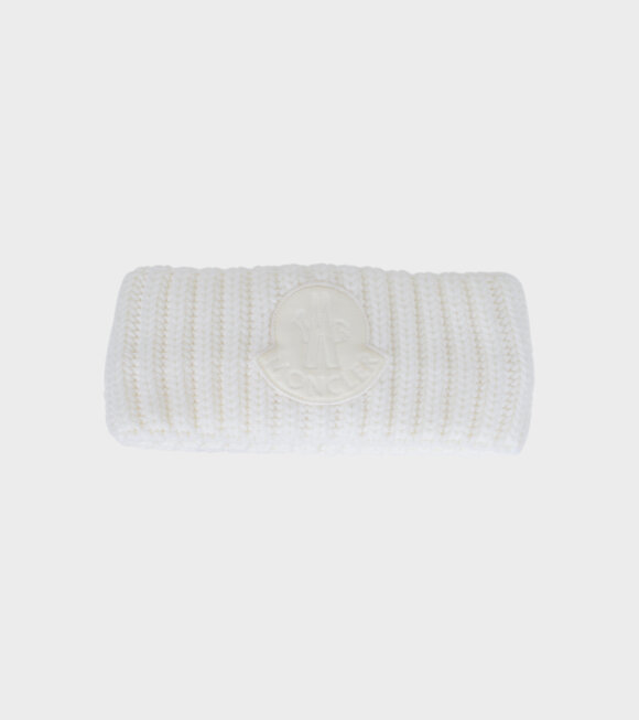 Moncler - Fascetta Tricot Headband White