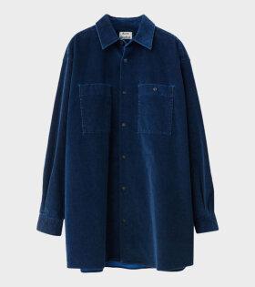 Sabino Contrast Cord Shirt Blue