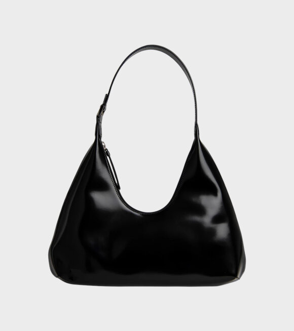By Far - Amber Black Semi Patent Leather